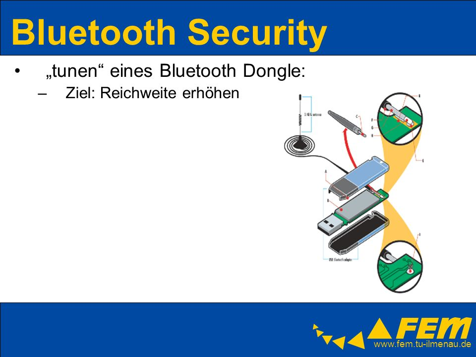 "Bluetooth Security ""tunen eines Bluetooth Dongle:"
