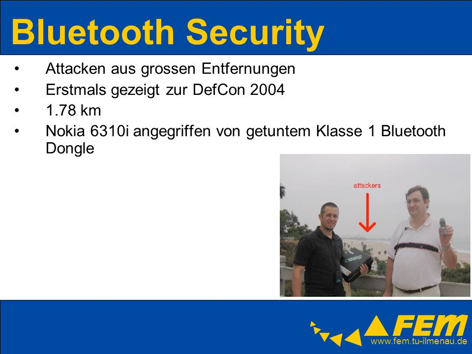Bluetooth Security Attacken aus grossen Entfernungen