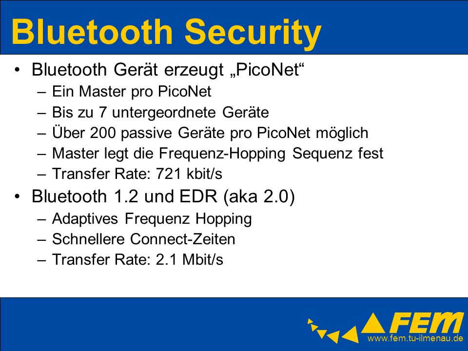 "Bluetooth Security Bluetooth Gerät erzeugt ""PicoNet"