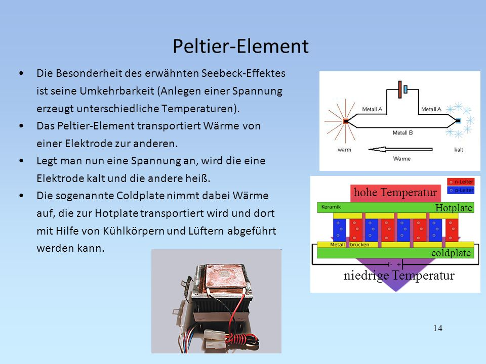 Peltier-Element niedrige Temperatur