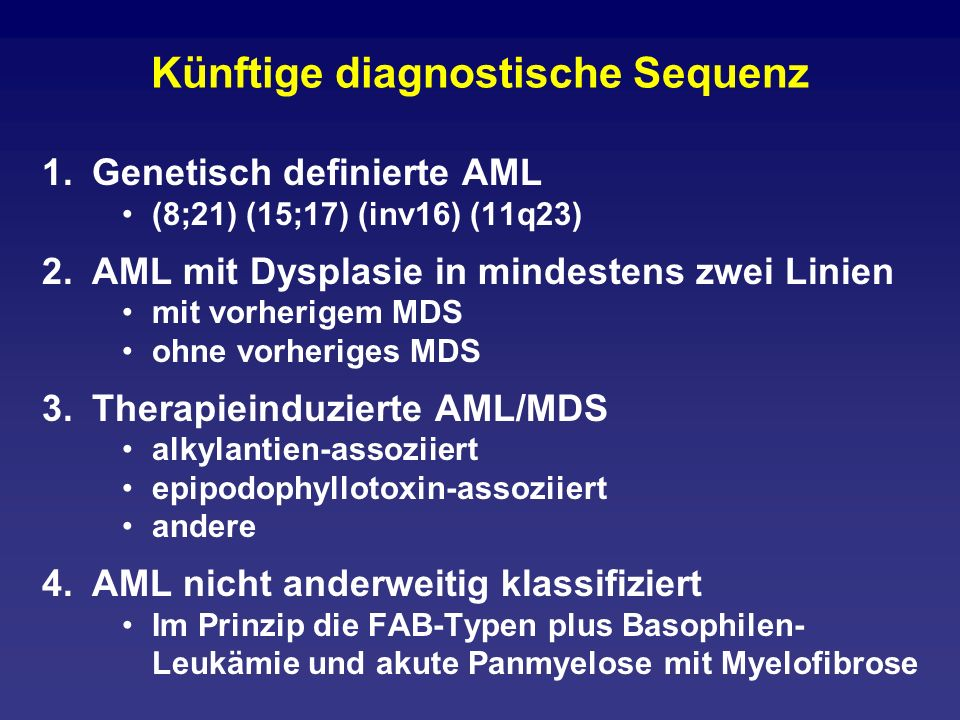 Künftige diagnostische Sequenz