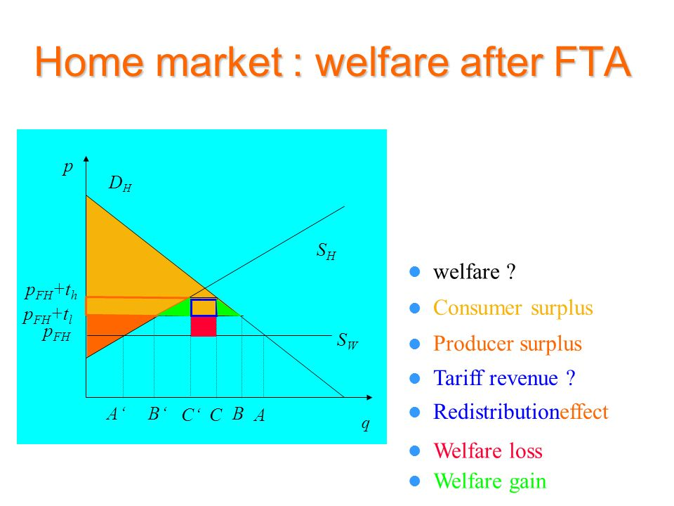 Home market : welfare after FTA