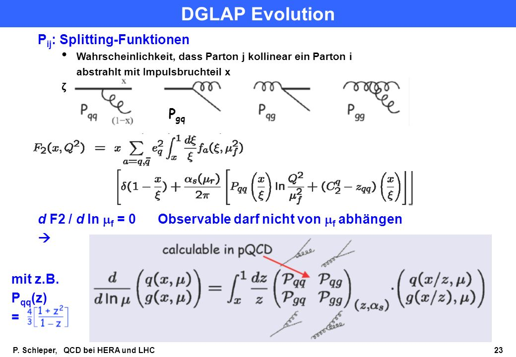 DGLAP Evolution Pij: Splitting-Funktionen Pgq