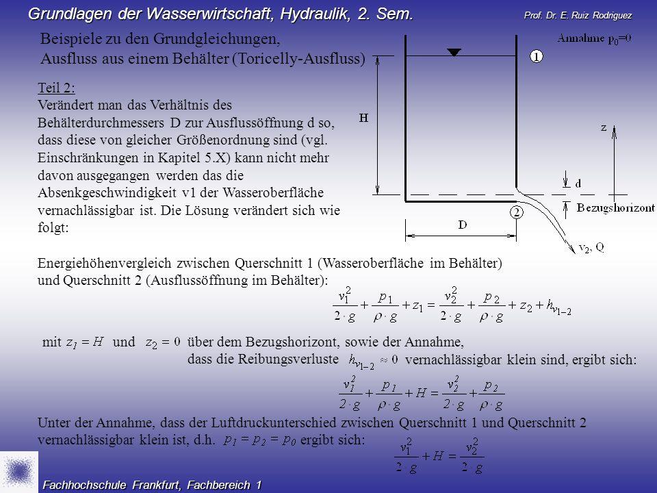 Vorlesung: 11050: Technische Hydraulik (Teil 2) Semester: 2 ...