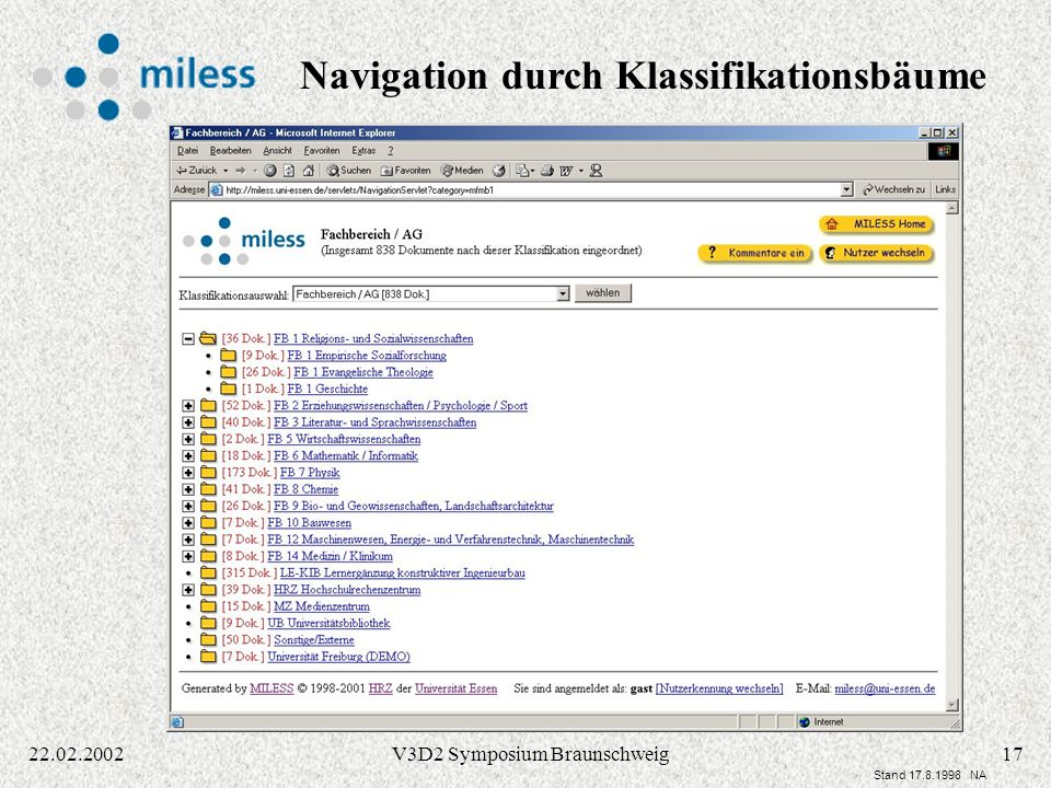 Navigation durch Klassifikationsbäume