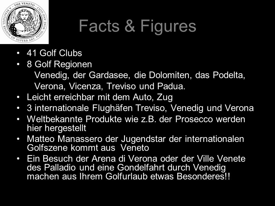 Facts & Figures 41 Golf Clubs 8 Golf Regionen