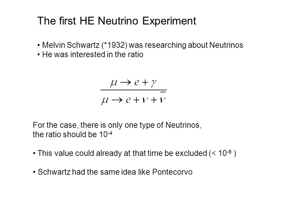 The first HE Neutrino Experiment