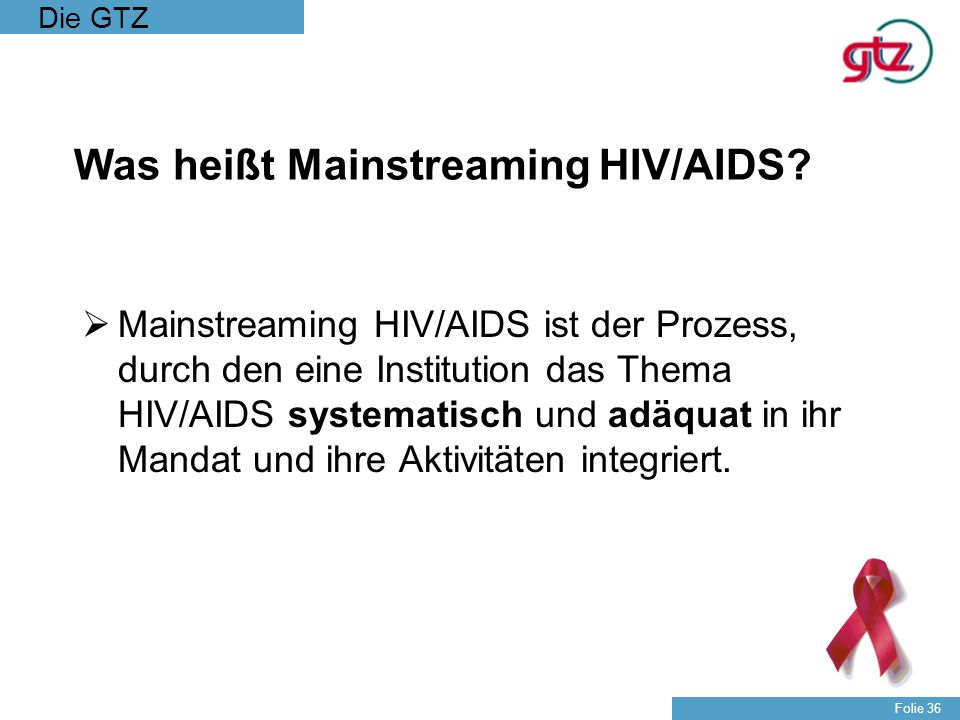 Was heißt Mainstreaming HIV/AIDS