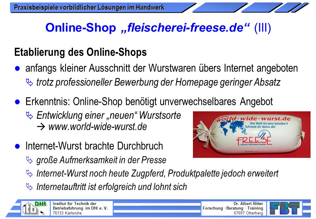 "Online-Shop ""fleischerei-freese.de (III)"