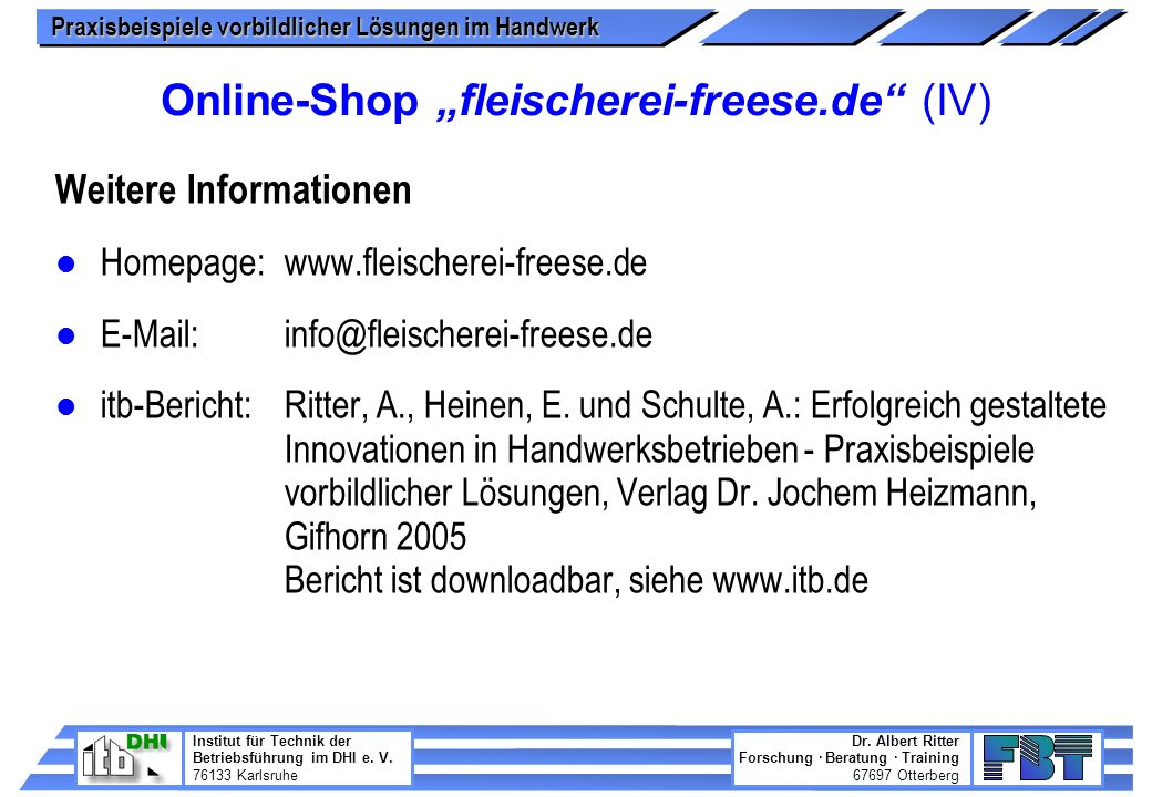 "Online-Shop ""fleischerei-freese.de (IV)"