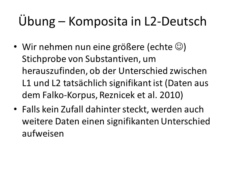 Übung – Komposita in L2-Deutsch