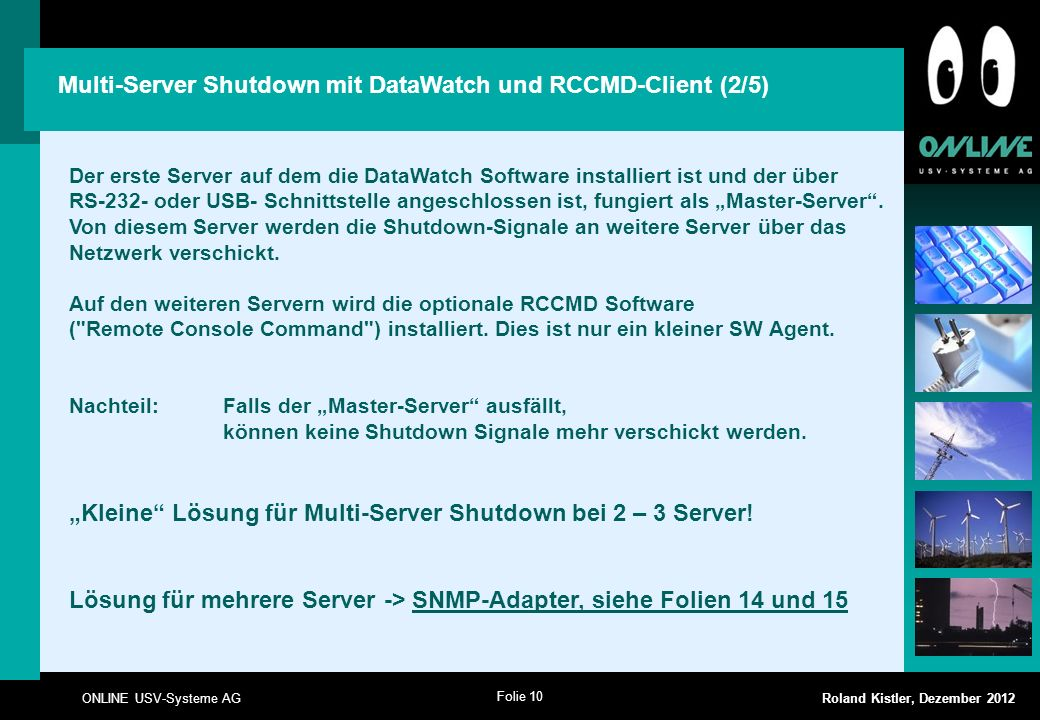 Multi-Server Shutdown mit DataWatch und RCCMD-Client (2/5)