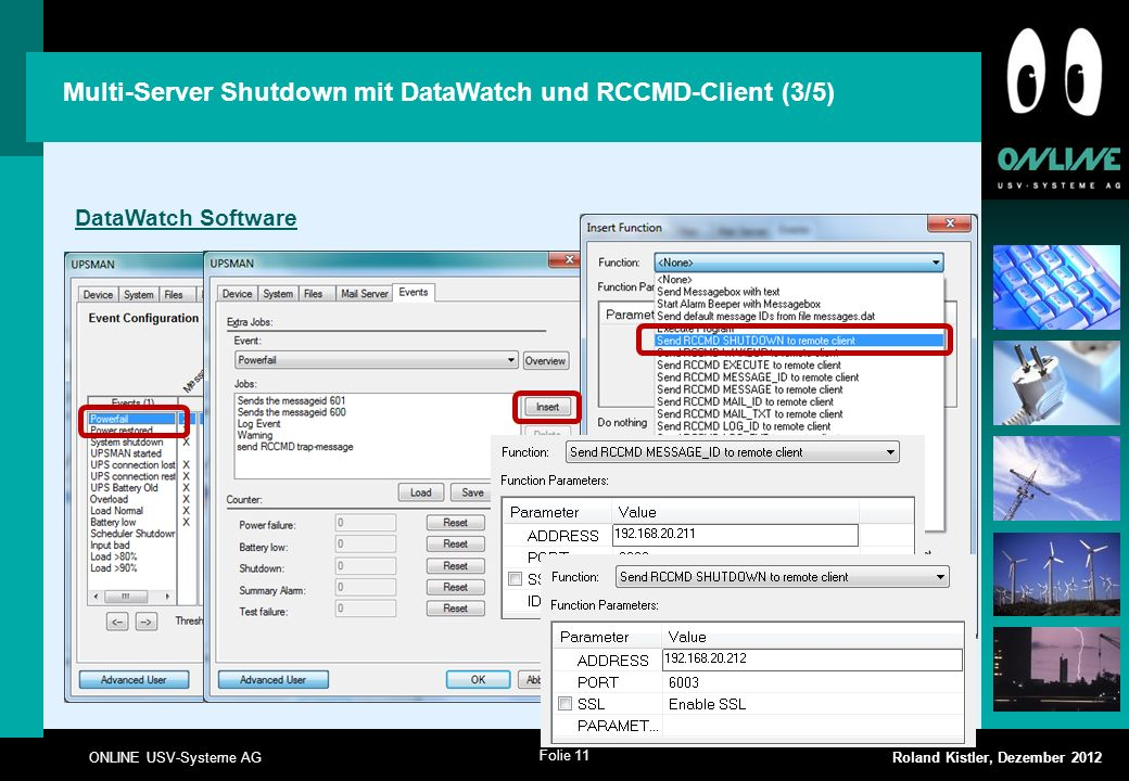 Multi-Server Shutdown mit DataWatch und RCCMD-Client (3/5)
