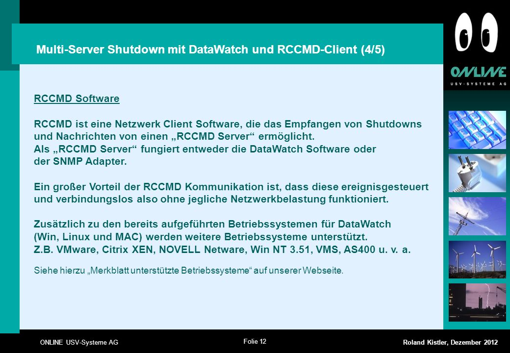 Multi-Server Shutdown mit DataWatch und RCCMD-Client (4/5)