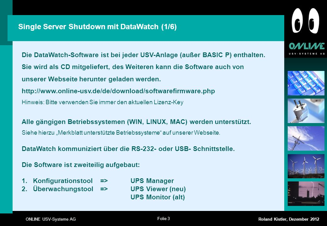 Single Server Shutdown mit DataWatch (1/6)