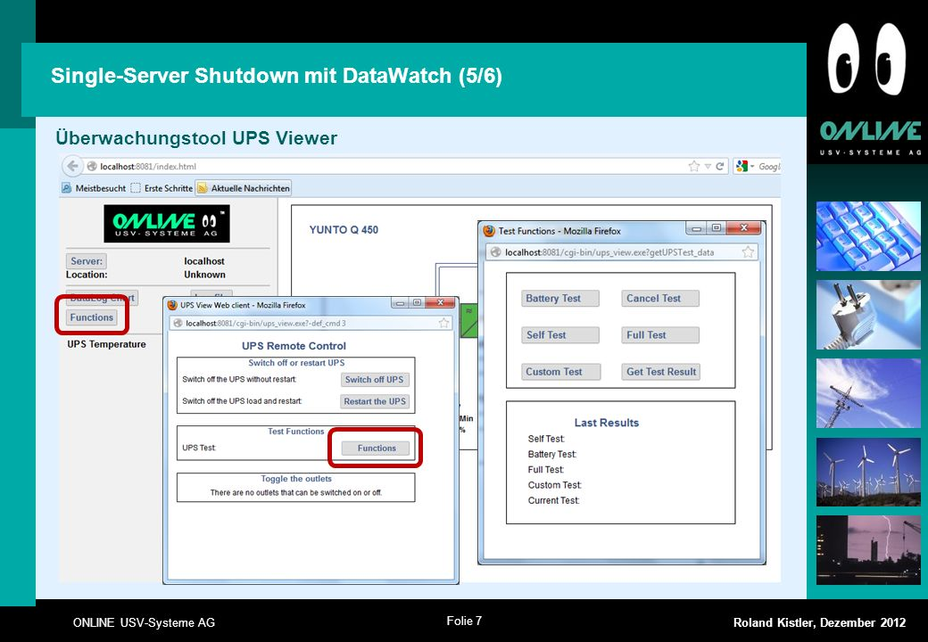 Single-Server Shutdown mit DataWatch (5/6)