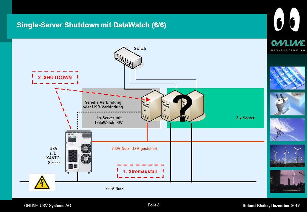 Single-Server Shutdown mit DataWatch (6/6)