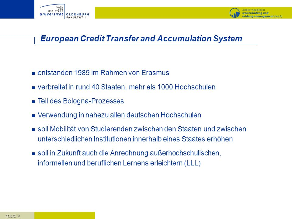 European Credit Transfer and Accumulation System
