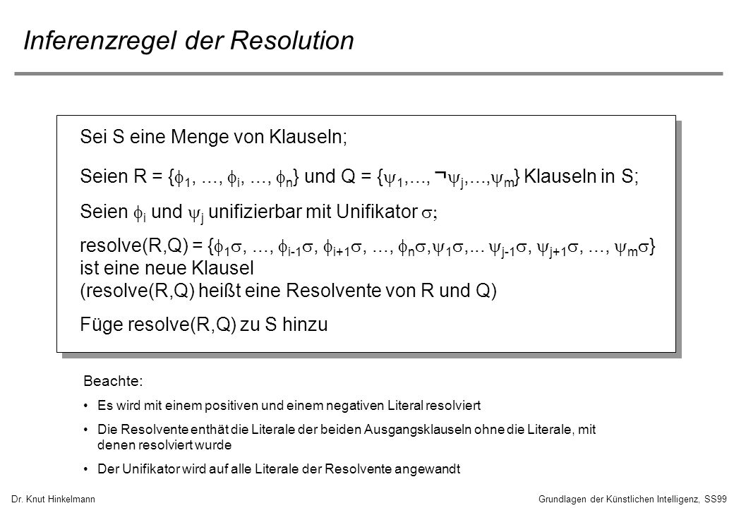 Inferenzregel der Resolution