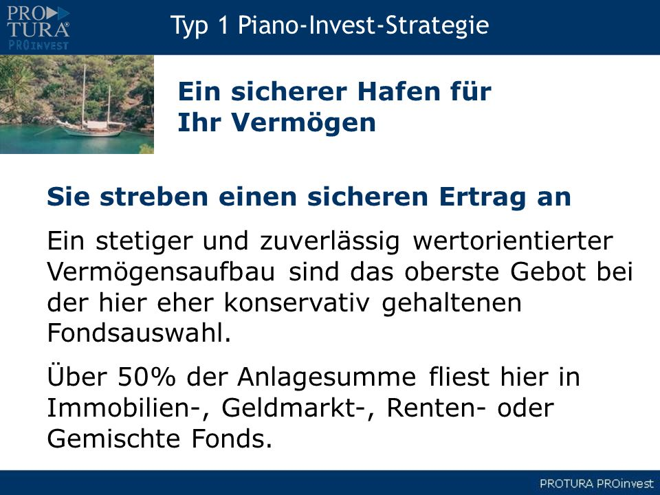 Typ 1 Piano-Invest-Strategie