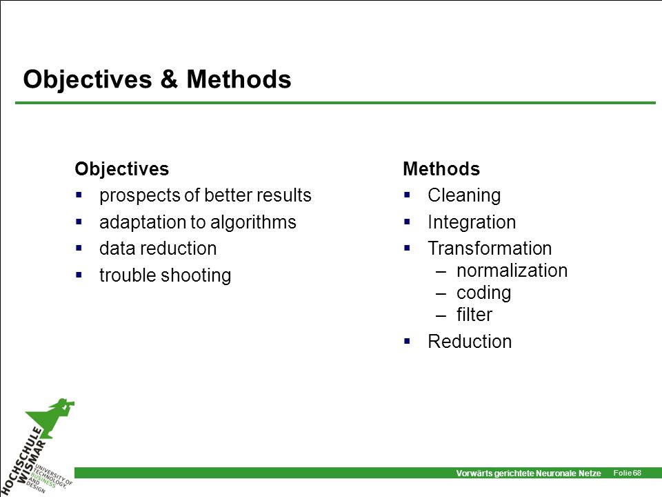 Objectives & Methods Objectives prospects of better results