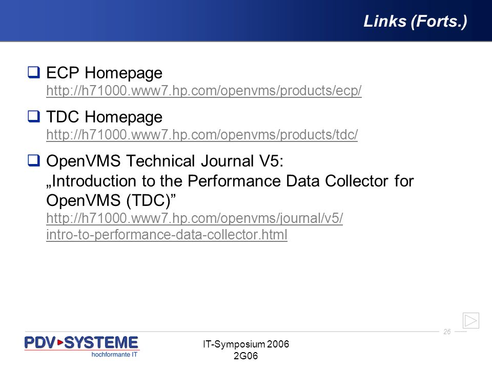 ECP Homepage http://h71000.www7.hp.com/openvms/products/ecp/