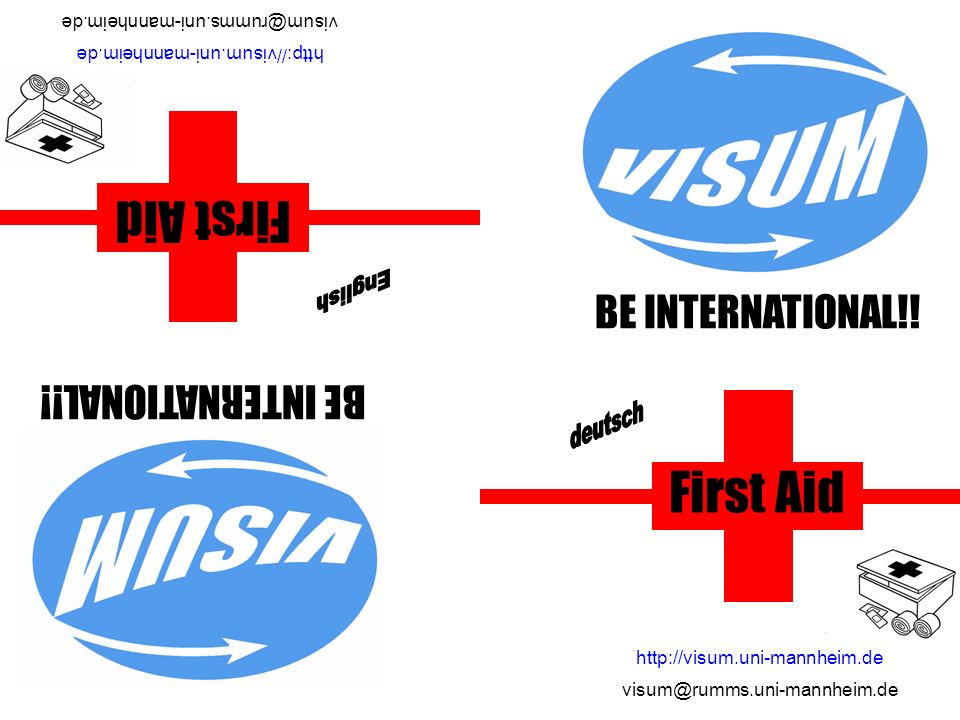 First Aid First Aid English deutsch BE INTERNATIONAL!!