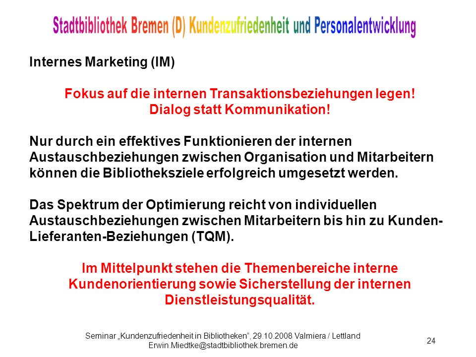 Internes Marketing (IM)