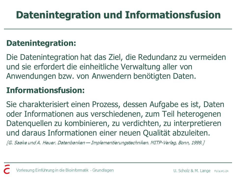 Datenintegration und Informationsfusion