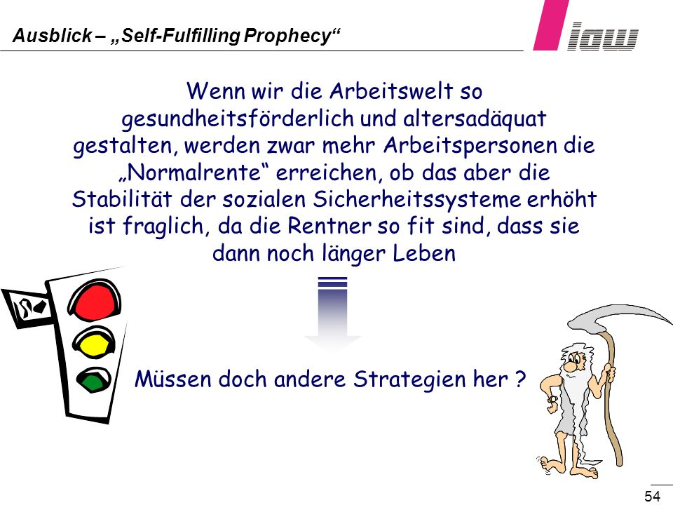 "Ausblick – ""Self-Fulfilling Prophecy"