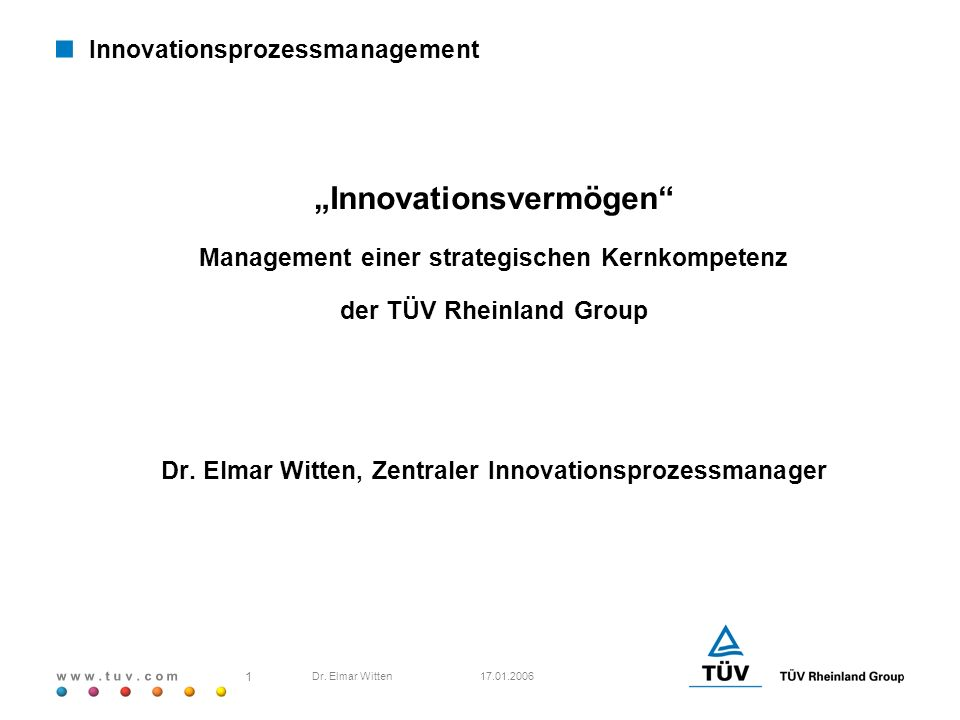 Innovationsprozessmanagement erpräsentation