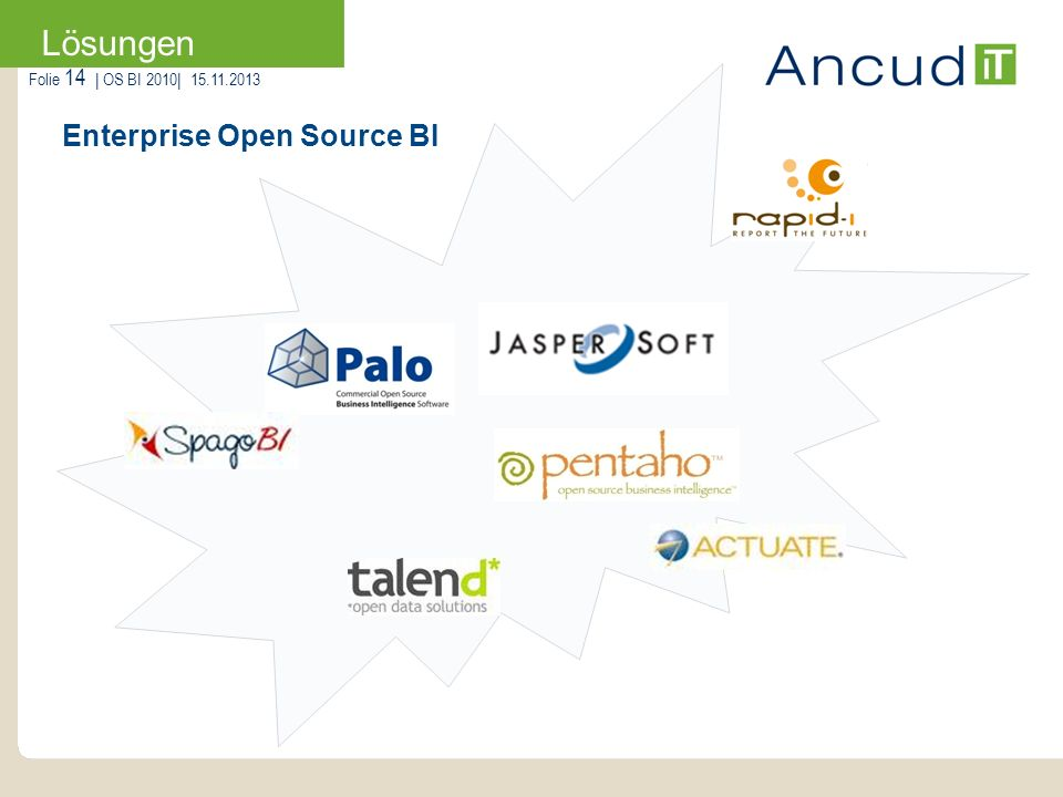 Enterprise Open Source BI