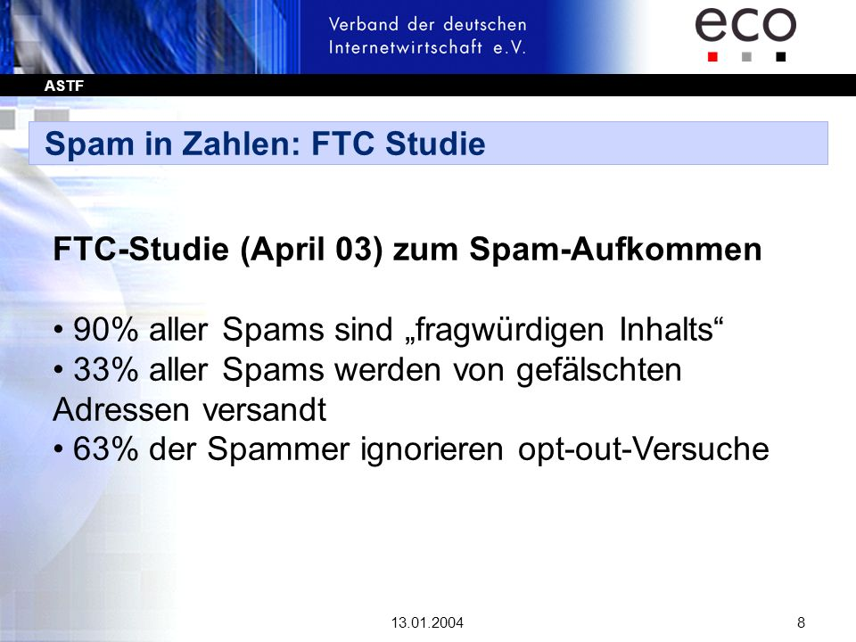 Spam in Zahlen: FTC Studie