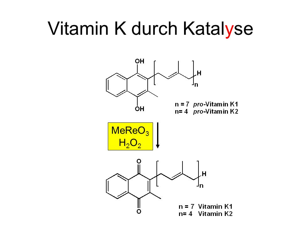 Vitamin K durch Katalyse