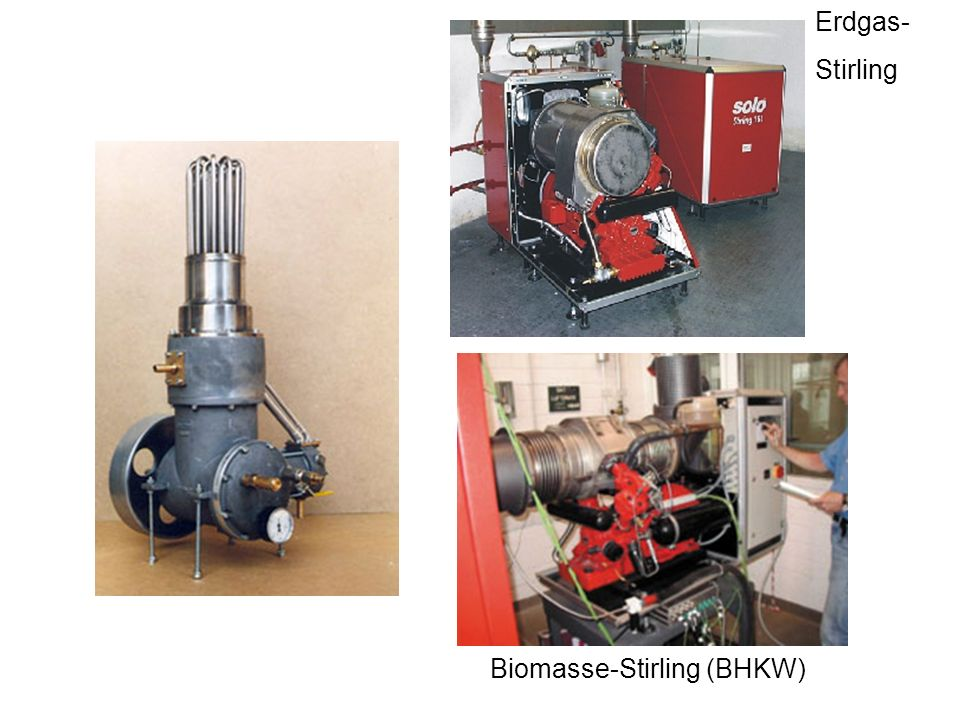Erdgas- Stirling Biomasse-Stirling (BHKW)