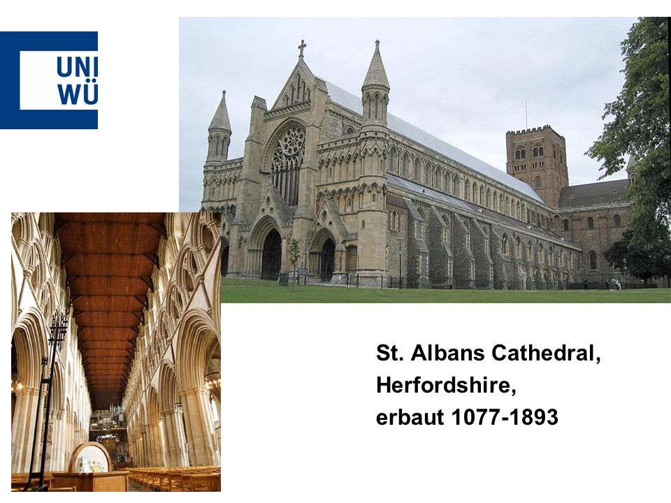 St. Albans Cathedral, Herfordshire, erbaut