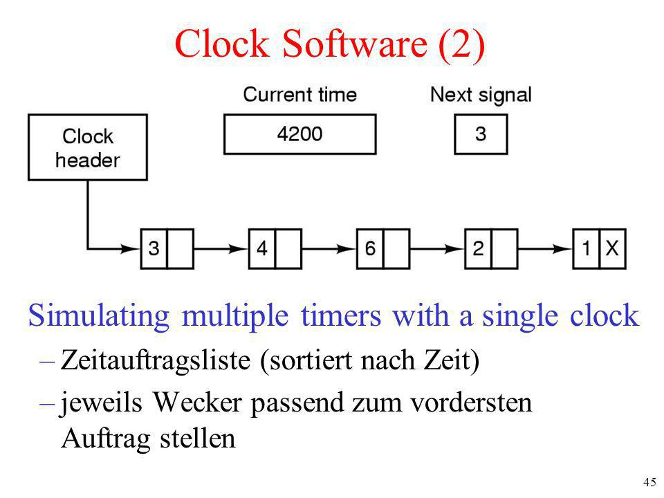 Simulating multiple timers with a single clock