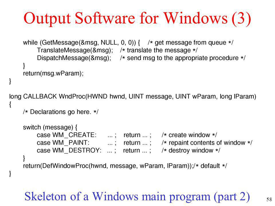 Output Software for Windows (3)