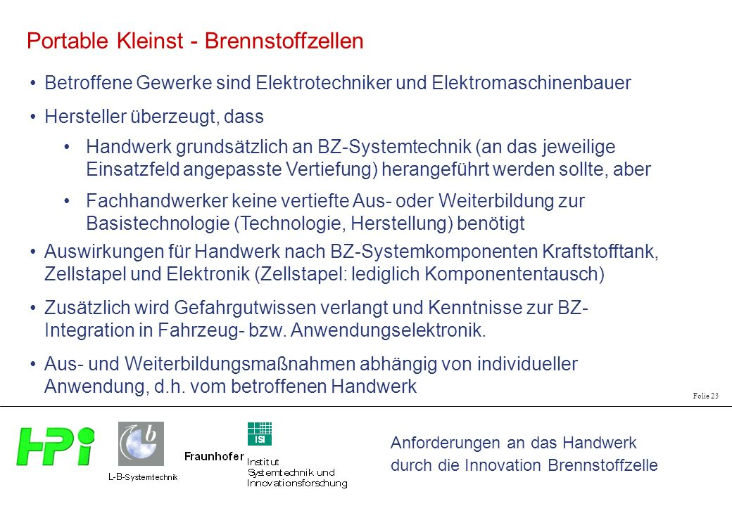 Portable Kleinst - Brennstoffzellen