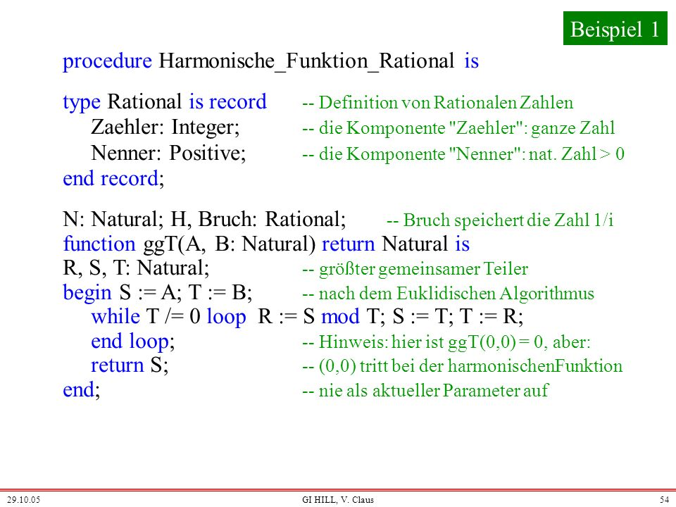 procedure Harmonische_Funktion_Rational is