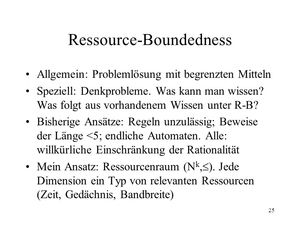 Ressource-Boundedness