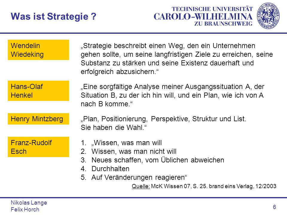 Was ist Strategie Wendelin Wiedeking