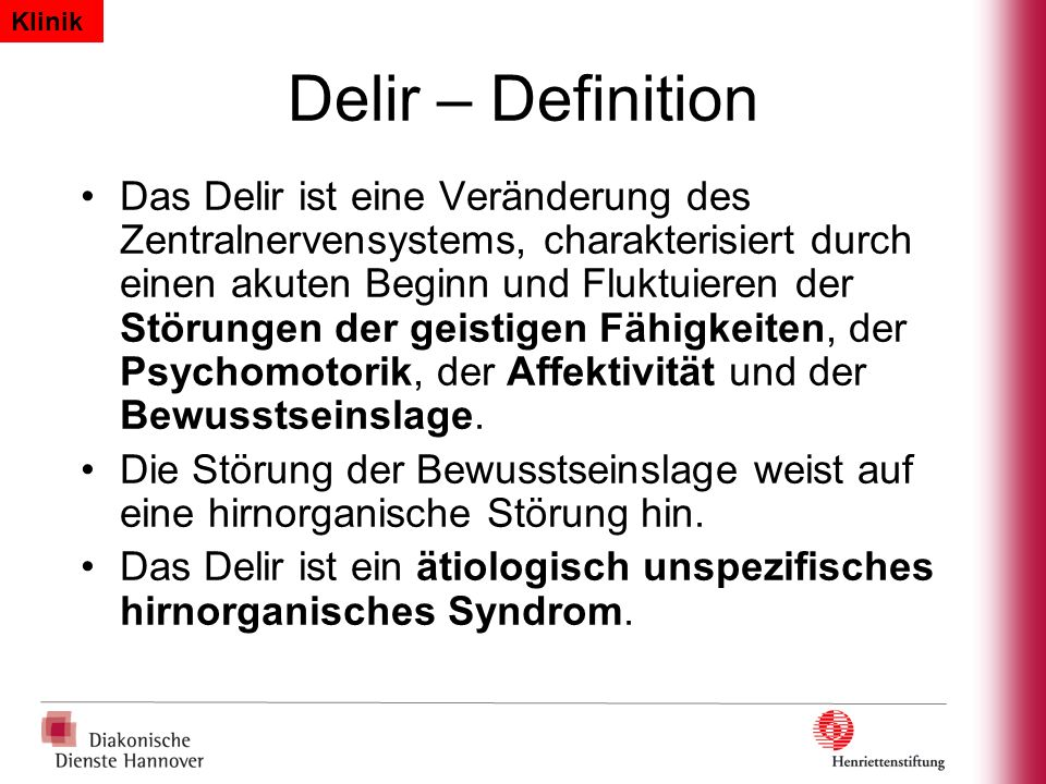Klinik Delir – Definition.