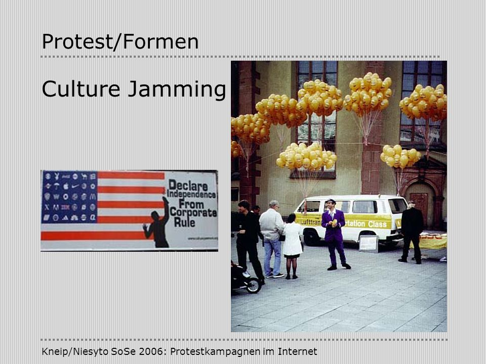 Culture Jamming Protest/Formen