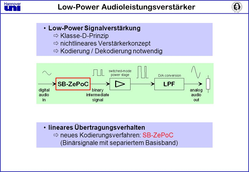 Low-Power Audioleistungsverstärker