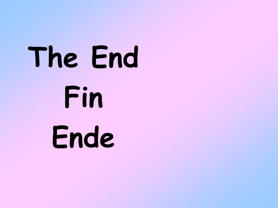 The End Fin Ende