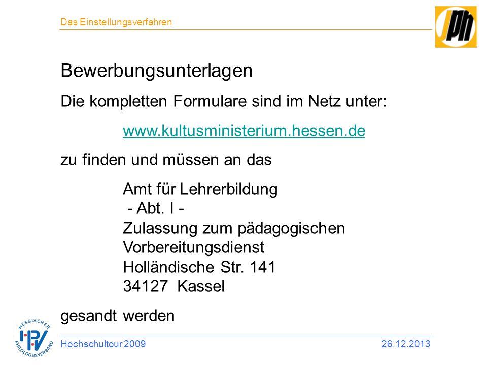 14 bewerbungsunterlagen - Bewerbung Referendariat Hessen