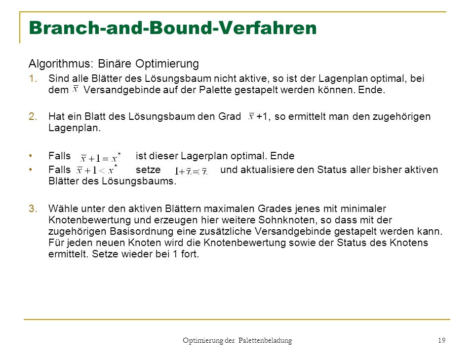 Branch-and-Bound-Verfahren