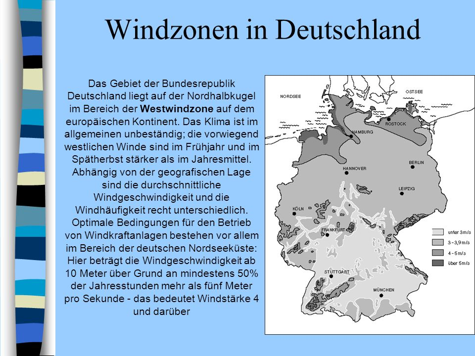 Windzonen in Deutschland