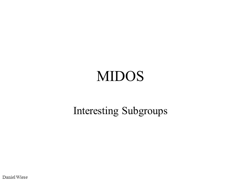 Interesting Subgroups